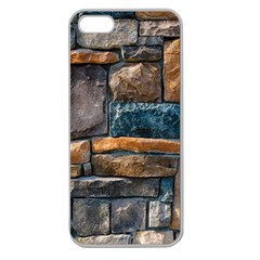 Brick Wall Pattern Apple Seamless Iphone 5 Case (clear)