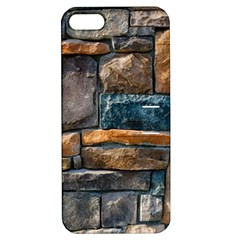 Brick Wall Pattern Apple iPhone 5 Hardshell Case with Stand