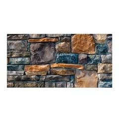 Brick Wall Pattern Satin Wrap