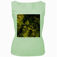 Colorful The Beautiful Of Traditional Art Indonesian Batik Pattern Women s Green Tank Top