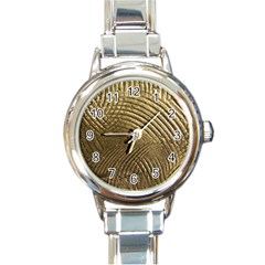Brushed Gold Round Italian Charm Watch