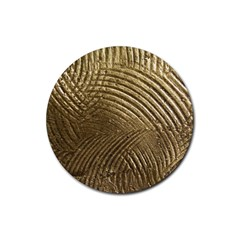 Brushed Gold Rubber Coaster (Round)