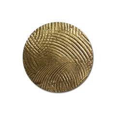 Brushed Gold Magnet 3  (Round)