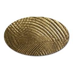 Brushed Gold Oval Magnet