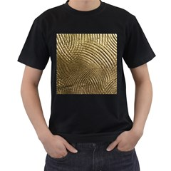 Brushed Gold Men s T Shirt (black) (two Sided)