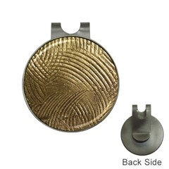 Brushed Gold Hat Clips with Golf Markers