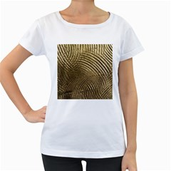 Brushed Gold Women s Loose Fit T Shirt (white)