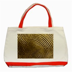 Brushed Gold Classic Tote Bag (Red)