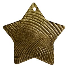 Brushed Gold Star Ornament (Two Sides)