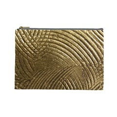 Brushed Gold Cosmetic Bag (Large)