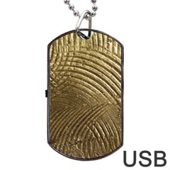 Brushed Gold Dog Tag USB Flash (Two Sides)