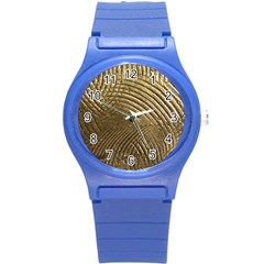 Brushed Gold Round Plastic Sport Watch (S)