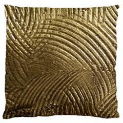 Brushed Gold Large Cushion Case (two Sides)