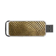 Brushed Gold Portable USB Flash (One Side)