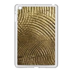 Brushed Gold Apple iPad Mini Case (White)