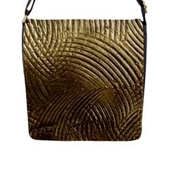 Brushed Gold Flap Messenger Bag (L)