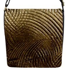 Brushed Gold Flap Messenger Bag (S)