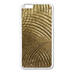 Brushed Gold Apple Iphone 6 Plus/6s Plus Enamel White Case
