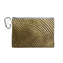 Brushed Gold Canvas Cosmetic Bag (M)