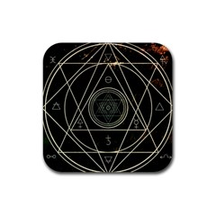 Cult Of Occult Death Detal Hardcore Heavy Rubber Square Coaster (4 pack)