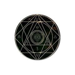 Cult Of Occult Death Detal Hardcore Heavy Magnet 3  (round)