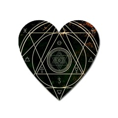 Cult Of Occult Death Detal Hardcore Heavy Heart Magnet