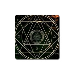 Cult Of Occult Death Detal Hardcore Heavy Square Magnet