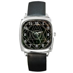 Cult Of Occult Death Detal Hardcore Heavy Square Metal Watch