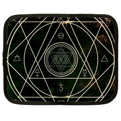 Cult Of Occult Death Detal Hardcore Heavy Netbook Case (large)