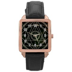 Cult Of Occult Death Detal Hardcore Heavy Rose Gold Leather Watch