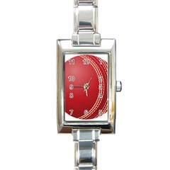 Cricket Ball Rectangle Italian Charm Watch