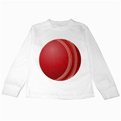 Cricket Ball Kids Long Sleeve T-Shirts
