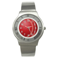 Cricket Ball Stainless Steel Watch