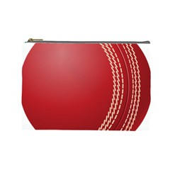 Cricket Ball Cosmetic Bag (Large)