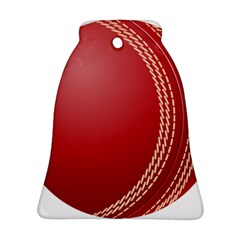 Cricket Ball Bell Ornament (two Sides)