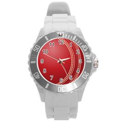 Cricket Ball Round Plastic Sport Watch (L)