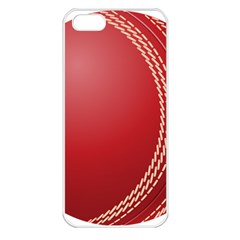 Cricket Ball Apple iPhone 5 Seamless Case (White)