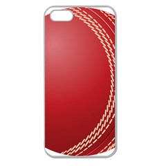 Cricket Ball Apple Seamless iPhone 5 Case (Clear)