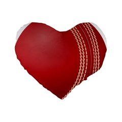 Cricket Ball Standard 16  Premium Heart Shape Cushions