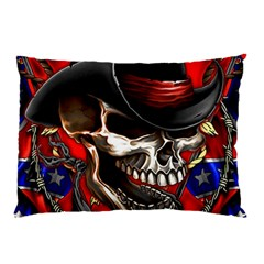 Confederate Flag Usa America United States Csa Civil War Rebel Dixie Military Poster Skull Pillow Case