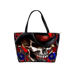 Confederate Flag Usa America United States Csa Civil War Rebel Dixie Military Poster Skull Shoulder Handbags