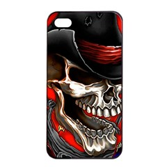 Confederate Flag Usa America United States Csa Civil War Rebel Dixie Military Poster Skull Apple Iphone 4/4s Seamless Case (black)