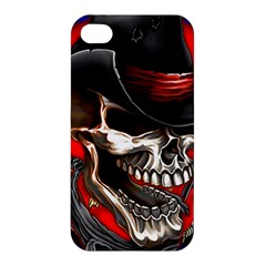Confederate Flag Usa America United States Csa Civil War Rebel Dixie Military Poster Skull Apple iPhone 4/4S Hardshell Case