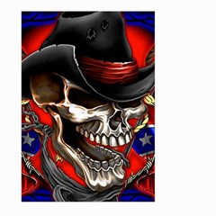 Confederate Flag Usa America United States Csa Civil War Rebel Dixie Military Poster Skull Large Garden Flag (two Sides)
