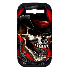 Confederate Flag Usa America United States Csa Civil War Rebel Dixie Military Poster Skull Samsung Galaxy S III Hardshell Case (PC+Silicone)