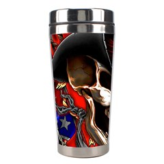 Confederate Flag Usa America United States Csa Civil War Rebel Dixie Military Poster Skull Stainless Steel Travel Tumblers