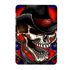 Confederate Flag Usa America United States Csa Civil War Rebel Dixie Military Poster Skull Samsung Galaxy Tab 2 (10 1 ) P5100 Hardshell Case