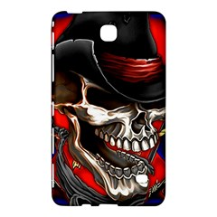 Confederate Flag Usa America United States Csa Civil War Rebel Dixie Military Poster Skull Samsung Galaxy Tab 4 (7 ) Hardshell Case