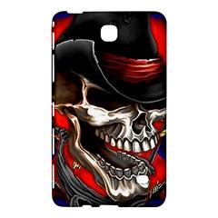 Confederate Flag Usa America United States Csa Civil War Rebel Dixie Military Poster Skull Samsung Galaxy Tab 4 (8 ) Hardshell Case