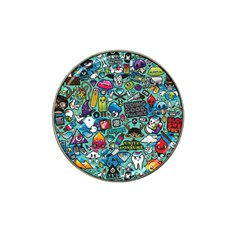 Comics Collage Hat Clip Ball Marker (4 pack)